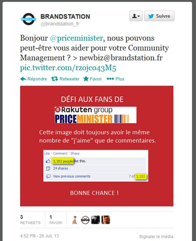 PriceMinister post like commentaires condamn�